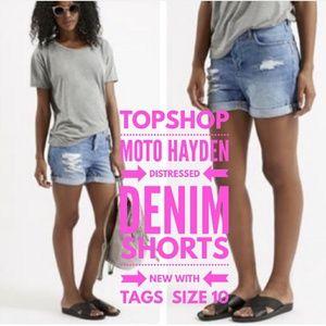 Topshop Shorts Size 10 Moto Hayden NWT's